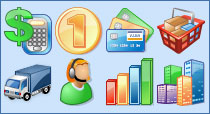 business bitmap icon set