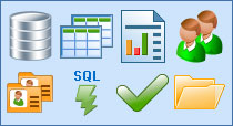Database Toolbar Icon Set